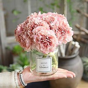 GSD2FF Artificial Flowers Peony Bouquet for Wedding Decoration 5 Heads Peonies Home Decor Silk Hydrangeas Flower 67