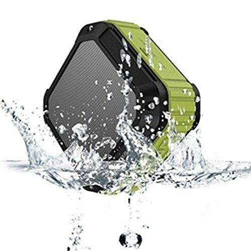 AUKEY Bocina Altavoz Bluetooth resistente al agua (Gris /Verde Militar)