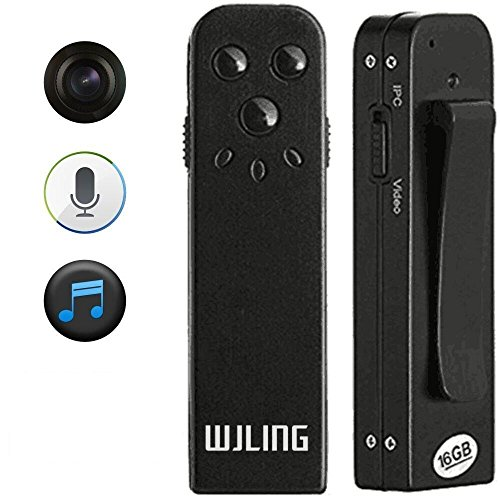 WJLING USB 16GB Digital Voice Recorder,Spy Camera , Mini Video Hidden Camera DVR Security Camcorder,640 x 480 30FPS (Hidden Video Camera With Audio)