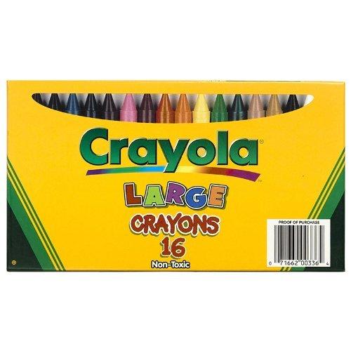 CRAYOLA LLC CRAYOLA LARGE SIZE CRAYON 16PK (Set of 3) by Crayola