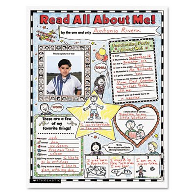 Instant Personal Poster Sets, Extra Extra Read All About Me, 17quot; x 22quot, 30/Pack