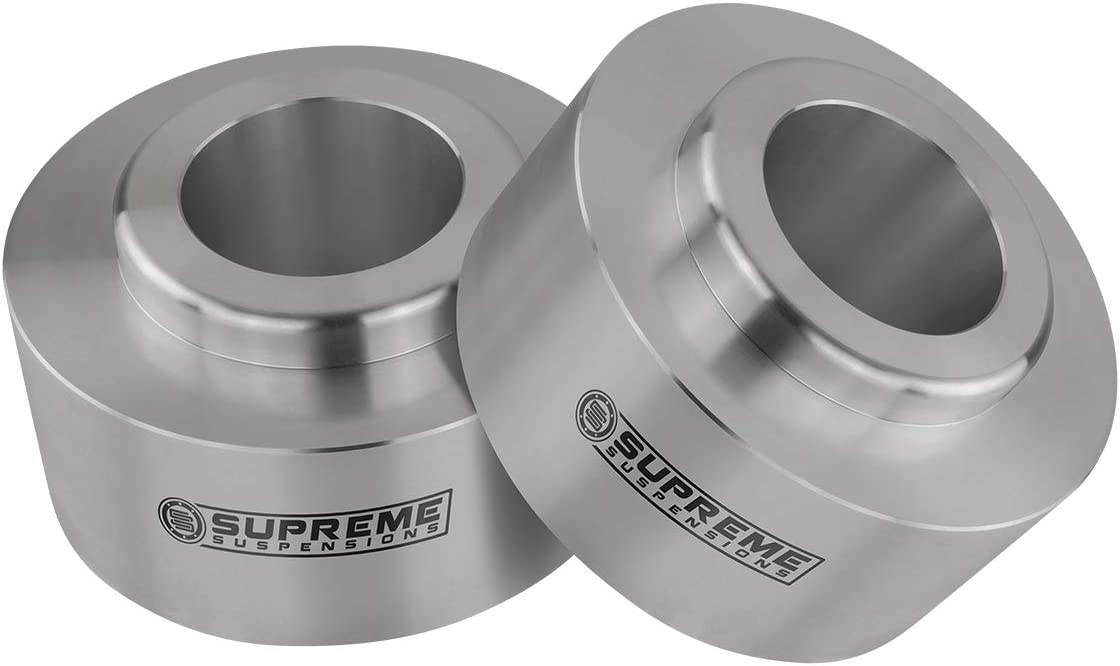 Differential Drop Kit 4WD 2 Rear Lift Spring Spacers Silver Full Lift Kit for 2003-2009 Toyota 4Runner /& 2007-2014 Toyota FJ Cruiser 2.5 Front Lift Strut Spacers Supreme Suspensions