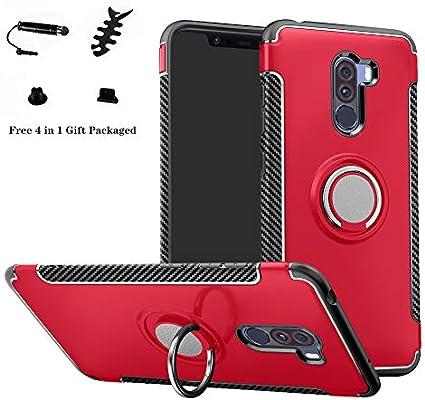 LFDZ Xiaomi Pocophone F1 Anillo Soporte Funda 360 Grados Giratorio ...