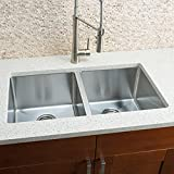 Hahn Chef Series Handmade Extra Large Equal Double Bowl Kitchen Sink