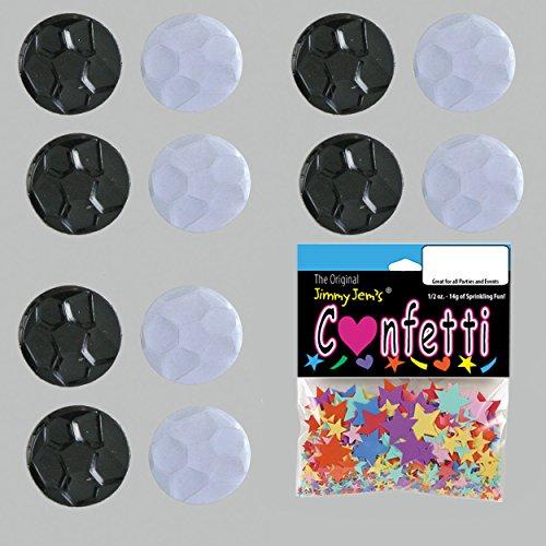 Confetti Soccer Ball Black, White Mix - 8 Half Oz Pouches (4 oz) FREE SHIPPING --- (CCP9247) by Jimmy Jems