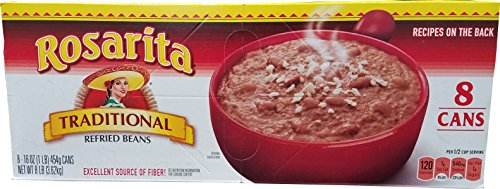(Rosarita Traditional Refried Beans, 128 Ounce)