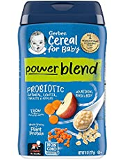 Gerber Powerblend Cereal for Baby - Oatmeal Lentil Carrot Apple Probiotic