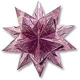 Folia Bascetta Stern 'Winterornament', 15x15cm, lila/silber, 32-teilig (1 Set)
