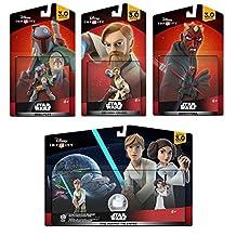 Disney Infinity 3.0 Star Wars: Obi-Wan Kenobi+Luke+Leia+Boba Fett+Darth Maul NEW