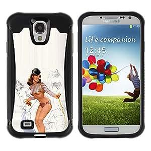 Suave TPU GEL Carcasa Funda Silicona Blando Estuche Caso de protección (para) Samsung Galaxy S4 IV I9500 / CECELL Phone case / / pin up model lingerie sexy legs breast /
