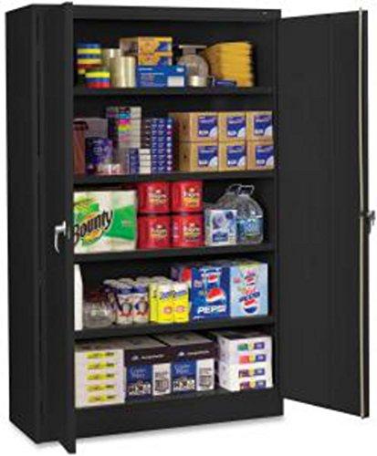 Tennsco J2478SUBK Assembled Jumbo Steel Storage Cabinet, 48w x 24d x 78h, Black from Tennsco
