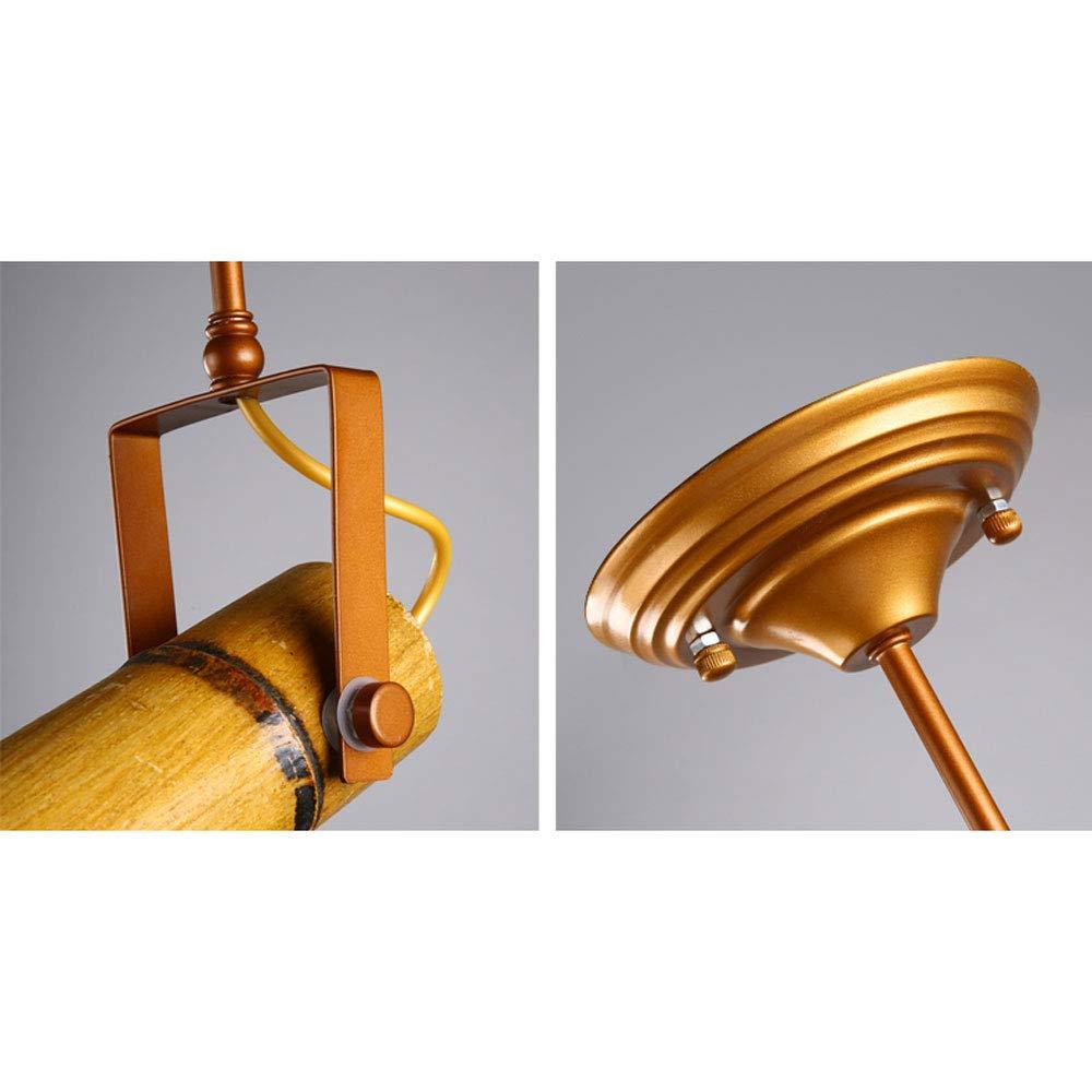 ZJⓇ Spotlight Track Light - Personality Creative Hemp Rope Bamboo Downlight Retro Hotel LED Lamp Long Rod Light - 5 Models - New Chandelier && (Size : 1) by ZJⓇ Spotlight (Image #9)