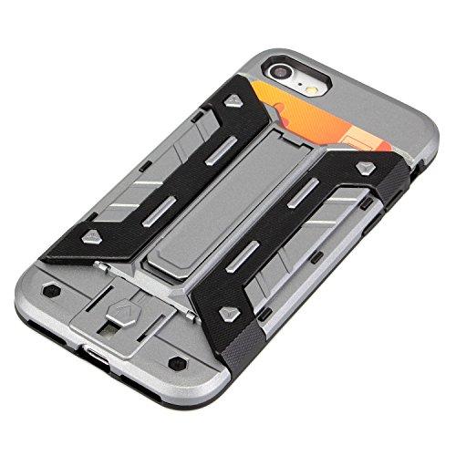 deinphone Apple iPhone 7coques rigides Shock Proof Armor Gris