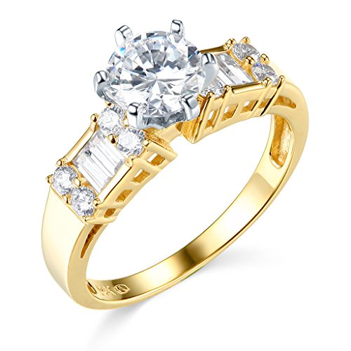 TWJC 14k Yellow OR White Gold Solid Wedding Engagement