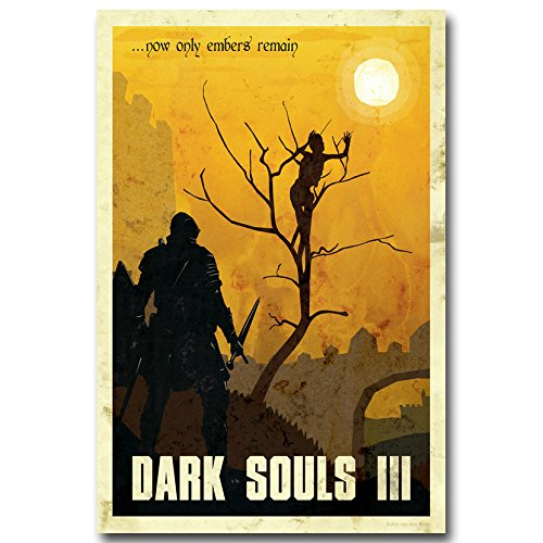 Lawrence Painting Dark Souls 1 2 3 Art Canvas Poster Print G