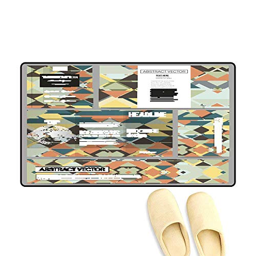Floor Mat Pattern Set of Business templates for Presentation
