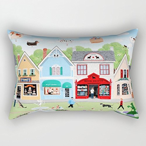 Futon Cover Palm - Bestseason The Dogs Throw Pillow Covers Of 12 X 20 Inches / 30 By 50 Cm Decoration Gift For Birthday Drawing Room Lounge Her Bf Kids Room (two Sides)