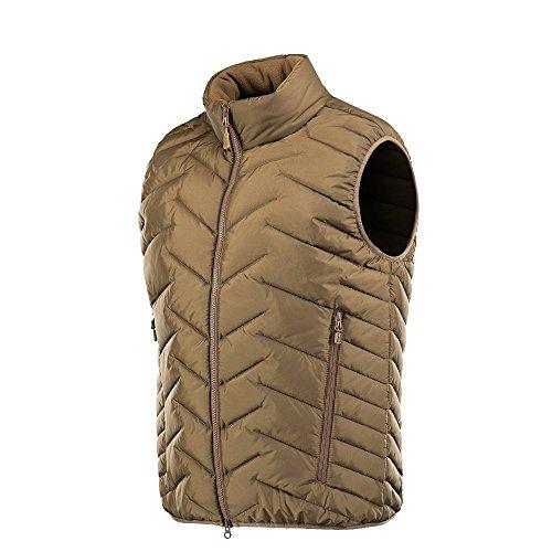 Coyote Lightweight Vest - M-Tac Mens G-Loft Vest Packable Waistcoat (Coyote Brown, L)