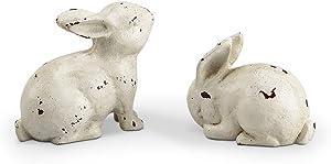 SPI Home White Rabbit Pair Décor, Set of 2