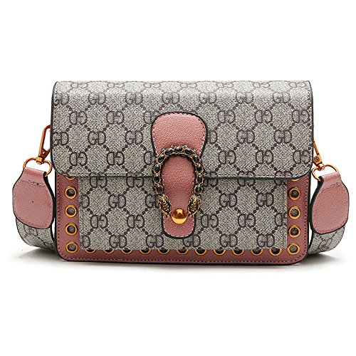 Bag Fashion Small Package 20 Printing Golden Match Small Satchel Retro 15 All Pink 7cm YxpEq4Cw
