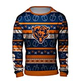 Forever Collectibles NFL Men's Hanukkah Printed Ugly Crew Neck Sweater, Team Variation