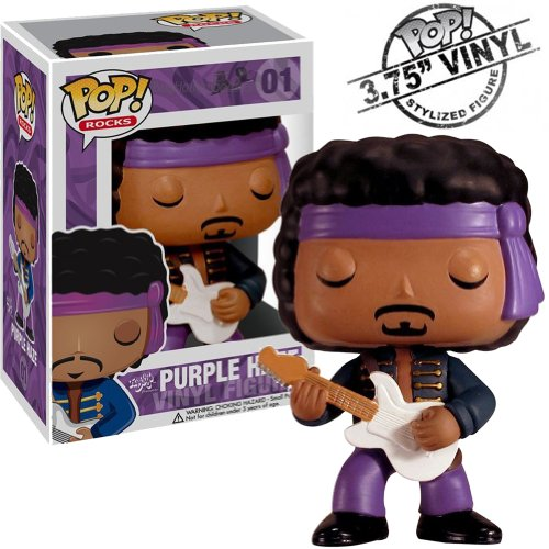 Jimi Hendrix Collectors Memorabilia: Funko Pop Rocks Purple Haze Figure
