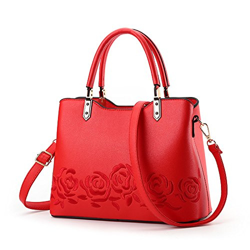 Jpfcak Ms Fashion Shoulder Bags Bolso Crossbody Bag Rose Bordado Temperament Bolso A
