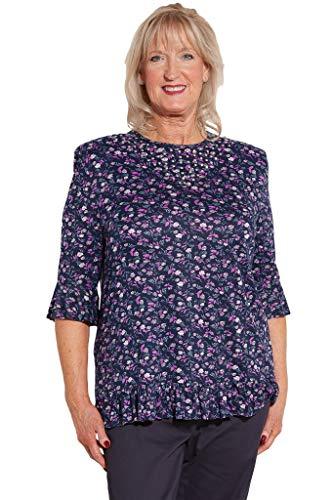 Ovidis Knit Top for Women - Purple   Nancie   Adaptive Clothing - M