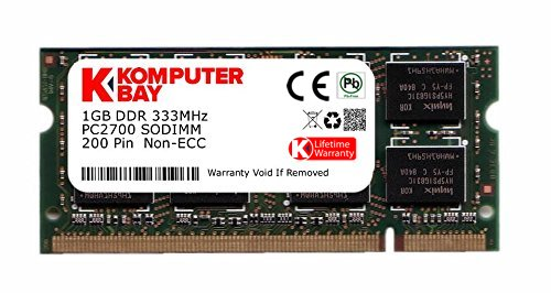 - Komputerbay 1GB DDR SODIMM (200 pin) 333Mhz DDR333 PC2700 LAPTOP MEMORY