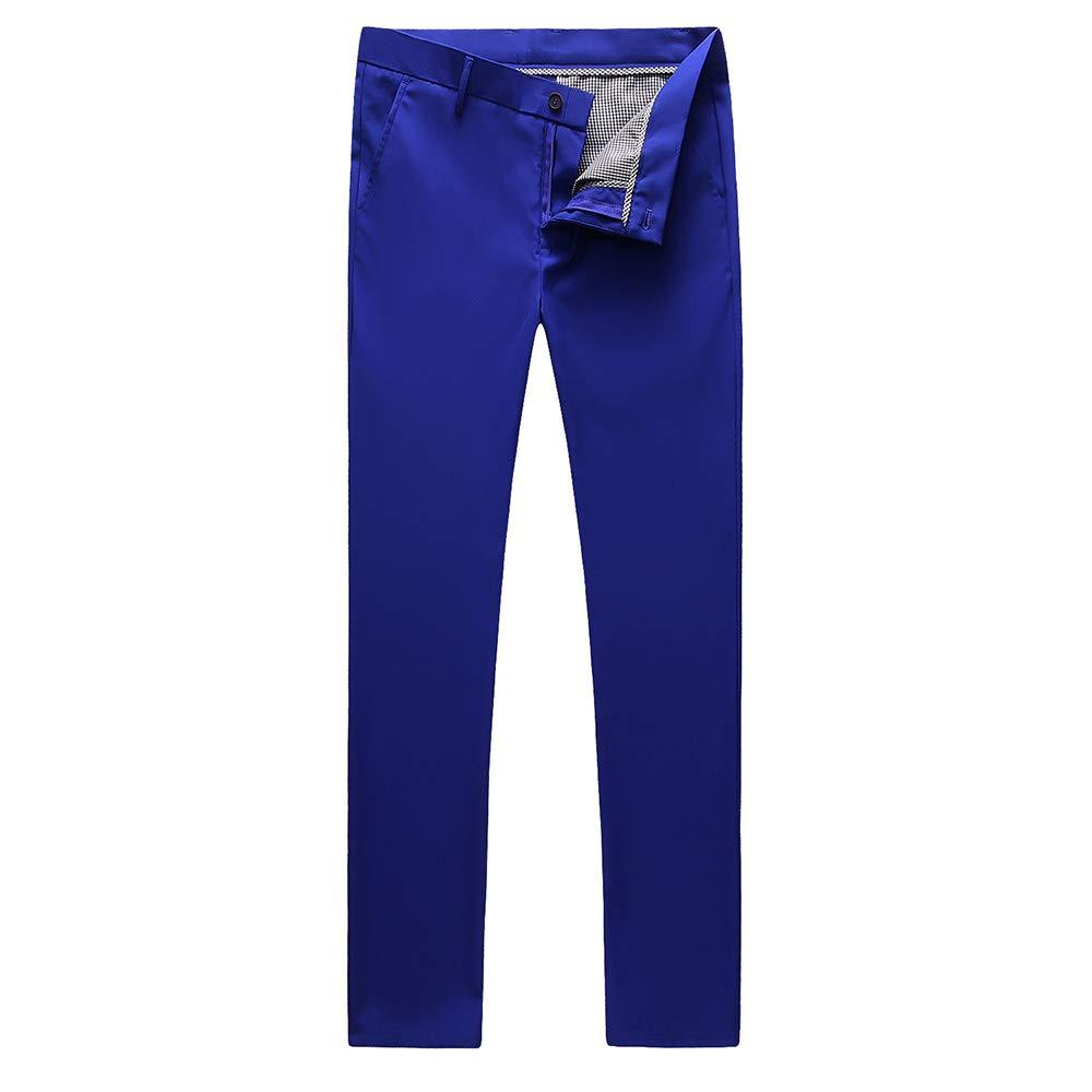 UNINUKOO Mens Tuxedo Slim Fit Business Wedding Suit Pants US Size 29 Royal Blue by UNINUKOO
