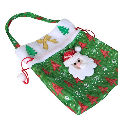 a9eb4ff88150 H.S.D Christmas Gift Bag-Santa Claus Gift Packing Candy Bag Draw String  Handbag