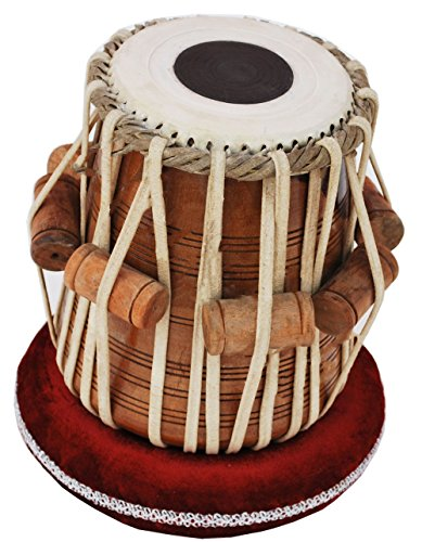 Queen Brass Tabla Dayan Drums-Shesham Wood-Hand Made Skin-Great Sound by Queen Brass