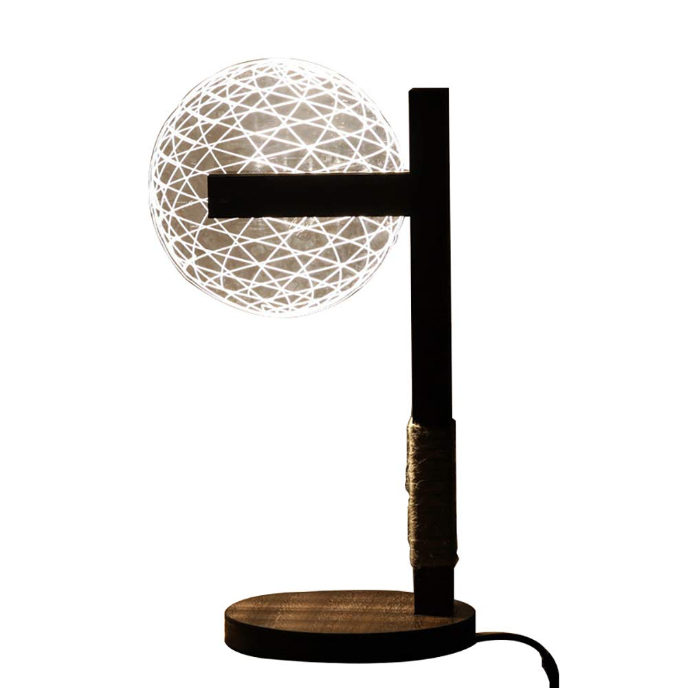 Table Lamp Creative Home Acrylic 3D Night Light Led Bedroom Simple Bedside Gift