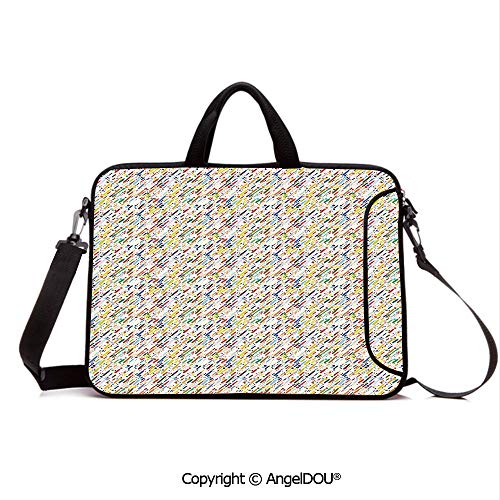 AngelDOU Portable Ultrabook Soft Sleeve Laptop Bag Case Cover Colorful Diagonal Stripes Traditional Polka Dots Surreal Illustration Grunge The Compatible with MacBook Asus Acer HP - Cover Colorful Polka Dots