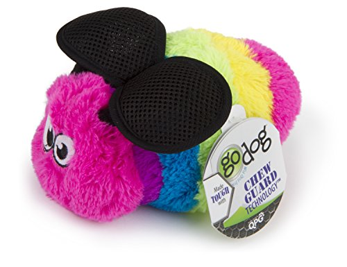 goDog Bugs Bee with Chew Guard Technology Plush Squeaker Dog