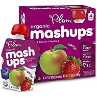 Plum Kids Organic Fruit Mashups, Mixed Berry, 3.17 Ounce...