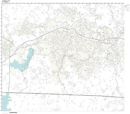 Gastonia Nc Zip Code Map.Amazon Com Zip Code Wall Map Of Gastonia Nc Zip Code Map Laminated