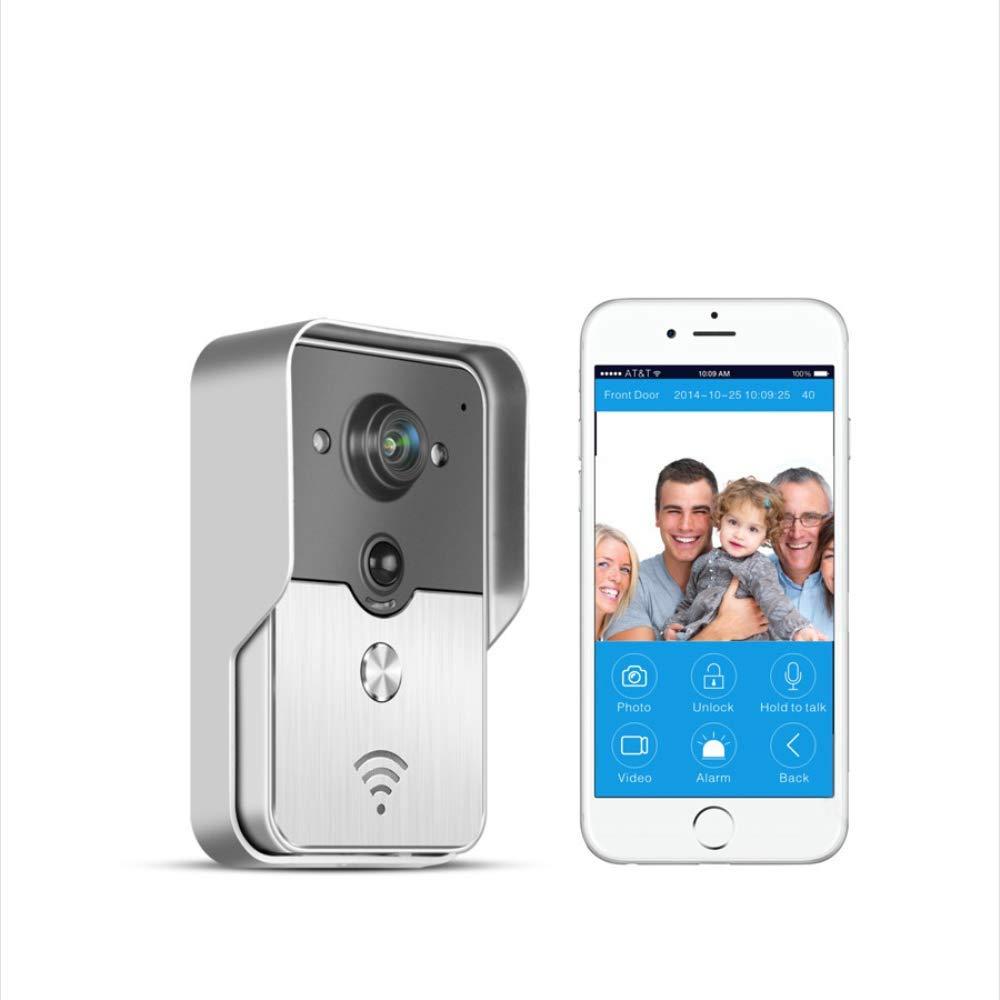 Four Video-Türklingel Drahtlose HD WiFi Smart Doorbell Akku Angetrieben Home-Sicherheitskamera Echtzeit-Video Zwei-Wege-Nachtsicht, PIR-Bewegungserkennung