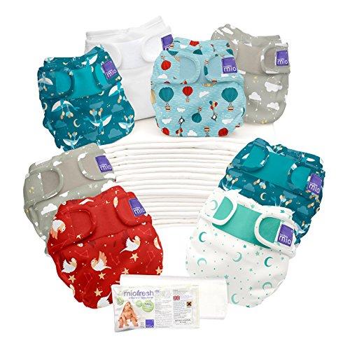 Bambino Mio, Miosoft Cloth Diaper Birth to Potty Pack, Dream Traveler