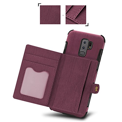 Protective S8 Case PU Cover Slim Plus Back Wallet Khaki Leather Galaxy Holder Phone with Case Credit Card Samsung for S8 fqnxpn7C