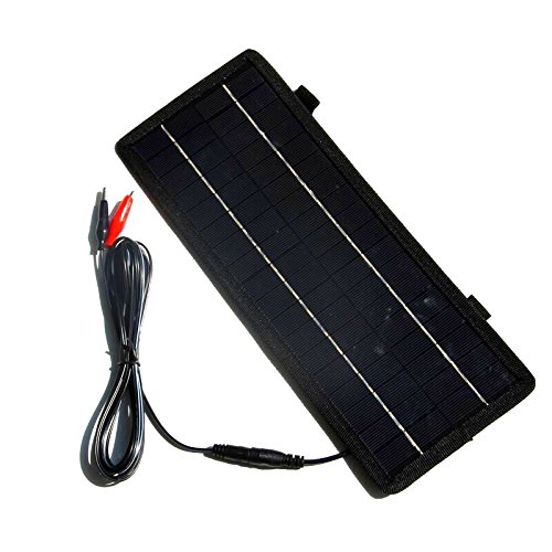 Renepv Solar Car Battery Charger 4.5W 12V BatteryMaintainer Solar Panel Power Charger Portable Backup For RV Motorcycle Boat Marine Trailer Tractor Powersports ATVs Snowmobile by Renepv