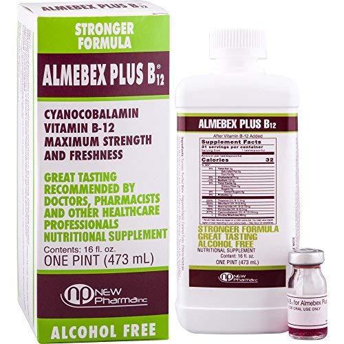 Almebex Plus B12 16 fl. oz by Newpharma INC by Almebex Plus B12 16 fl. oz