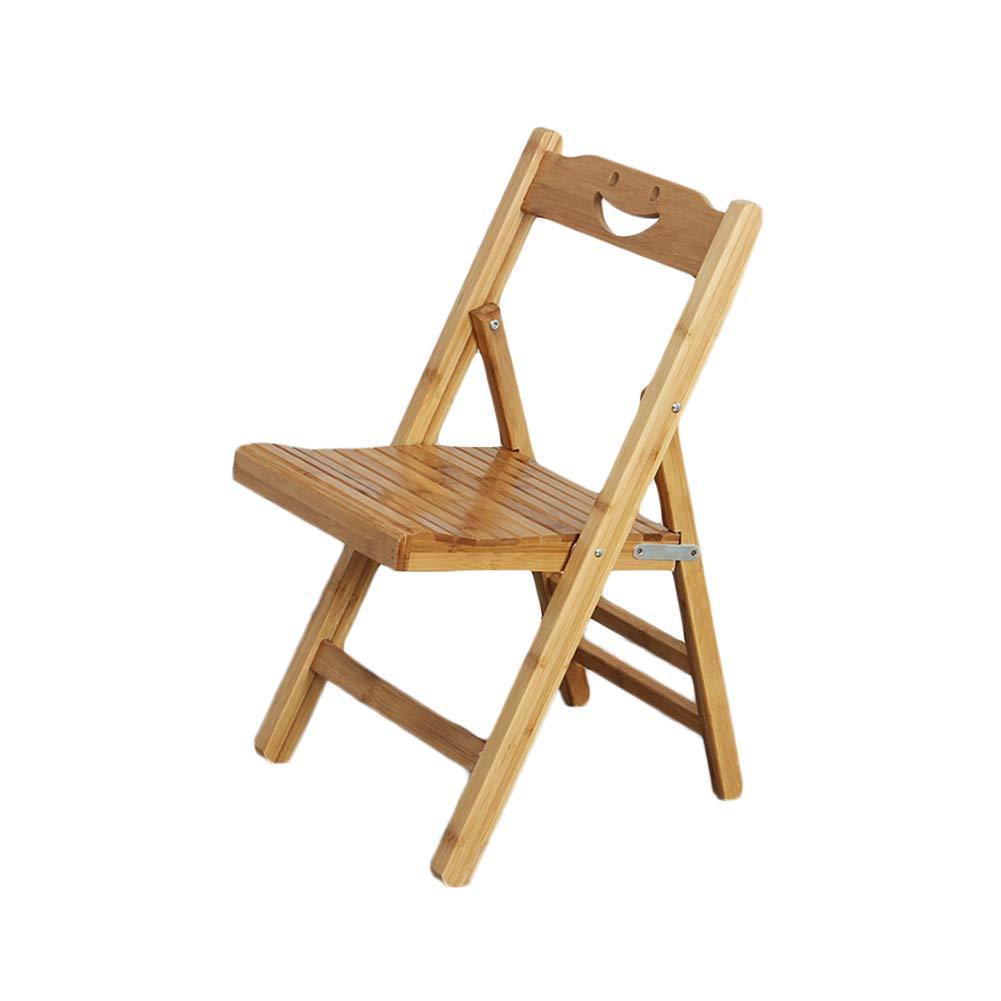 WYYY Silla Bambú Silla Plegable Respaldo Piernas de Madera ...