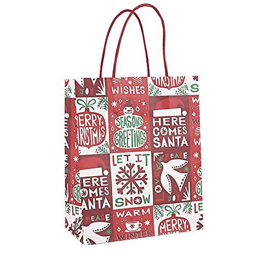 Bolsas de regalo de Navidad con mango de papel kraft para ...