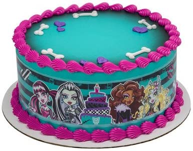 Awesome Amazon Com Monster High Cake Strips Licensed Edible Cake Topper Personalised Birthday Cards Beptaeletsinfo