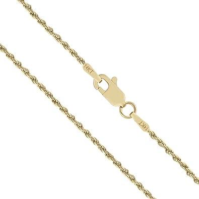 14K Yellow-1mm Rope Chain