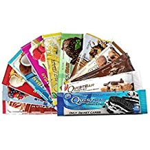 Quest Nutrition- Quest Bar Chocolate and Fruit Bundle 12 Pack: Apple, Berry, Coconut, White Chocolate Raspberry, Lemon, Strawberry, Mint, Chocolate Peanut Butter, Double…