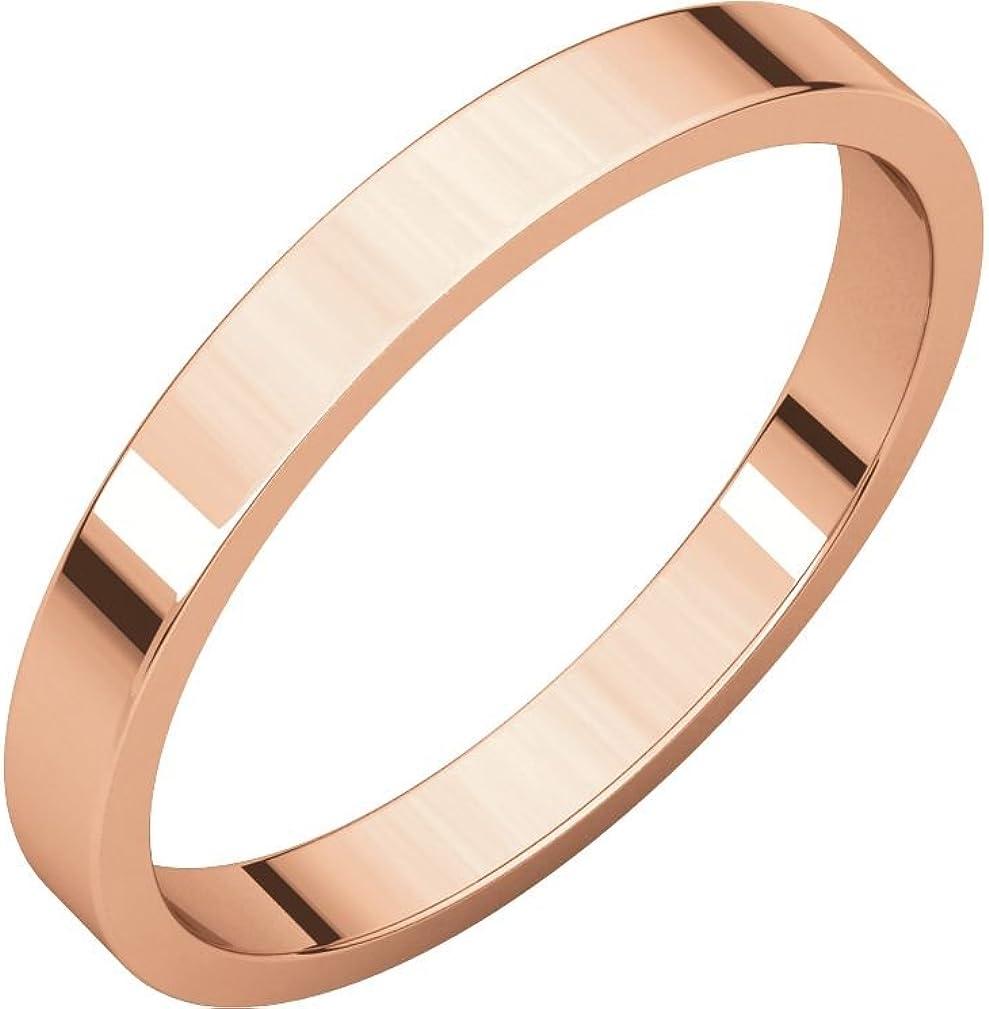 14k Rose Gold 2.5mm Stackable Ring