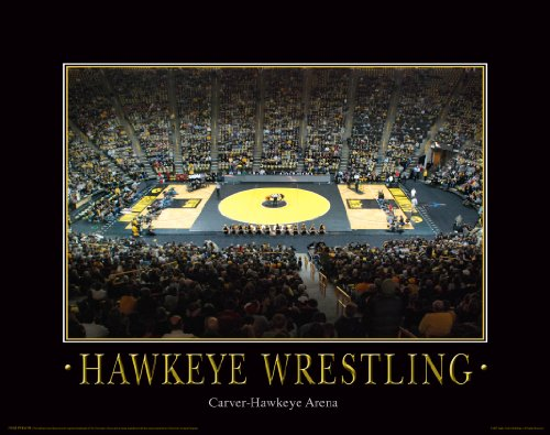 Iowa Hawkeye Wrestling Motivational Poster Art Print 11x14 Kids Shoes Head Gear (Iowa Hawkeyes Wrestling)