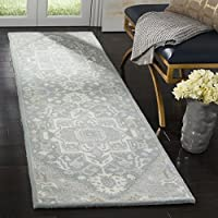 Safavieh HG823A-28 Heritage Collection Premium Wool Area Rug, 23 x 8 , Blue/Ivory